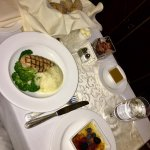 Room Service - Children's Chicken & Mash and Creme Brûlée