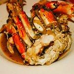 Fresh cracked crab dinner