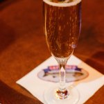 Champagne from the bar