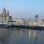 Leaving The Three Graces and the Pier Head.