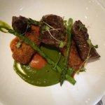 Wagyu in spinach sauce