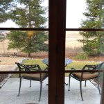 View out lower queen bedroom french doors
