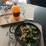 Pumpkin and avocado salad
