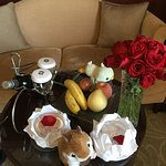 Prepared by hotel staff to commemorate our anniversary