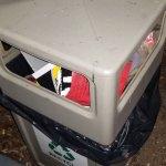 Over foiled trashcans