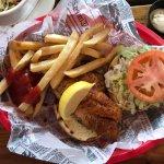 The blackened grouper sandwich - super fresh and super tasty