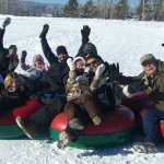 Go tubing as a family, free or at the Activity Barn $.