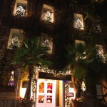 Hotel Raphael lit up for Christmas!