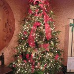 One of many decorated natural trees at the Inn