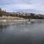 Looking Back at Caples Lake Resort )from middle of lake)