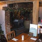 festive fire place