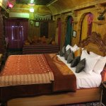 """this is maharja king room yallow stone 12"""" bed t.v. with all facility"""