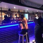 IZZA Lime bar located on Hastings Boardwalk. Nice eco friendly bar!