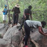 fun experience,climbing rocks & crossing over the water stream
