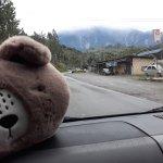 Heading towards Kundasang. My fluffy companion can't wait to see Mt Kinabalu up close :)
