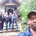 Wefie with Tika San aka Tiger Wood at Kinabalu Botanical Garden.