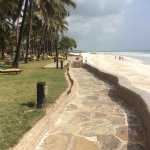 view from hotel grounds over Diani beach