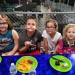 Rebecca and William Lewis of Vero Beach enjoying an 8th Birthday party at Flying Panda in Port S