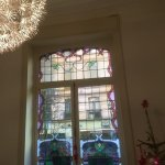 Stained glass window in the breakfast room
