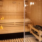 Suite with view with sauna