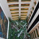 View inside looking down from 51st to 40th fl and its garden