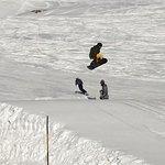 Snow park jumping