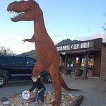 A 6 yr old boy and a millions yr old T-rex