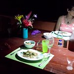 Dining by Solar Lamps
