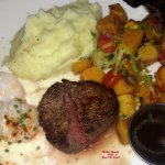 Surf & Turf with roasted fal;l vegtables