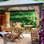 Enjoy breakfast in our outdoor gazebo.