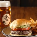 A burger & a beer. One of life's simple pleasures.