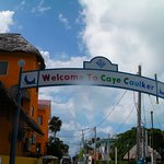 Gateway to Caye Caulker with my underwater camera