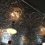 Tin plate ceiling tiles are GORGEOUS!!!!!!