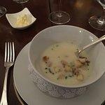 potato soup was light but tasty