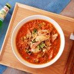 신메뉴! 해물짬뽕라면! spicy noodle soup with sea food!!