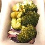 A picture of the revolting grey and reheated ancient vegetables.