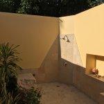 Yep, private outdoor shower in the jungle. Yep