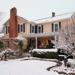 Winter View of Piney Hill Bed & Breakfast.