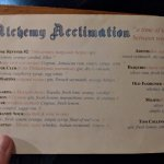 Alchemy Acclimation cocktail list
