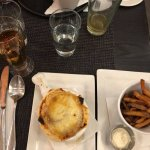 Onion soup with a side of fries! Some of the best onion soup I've ever had!