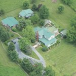 Aerial View of Piney Hill Bed & Breakfast and Cottages