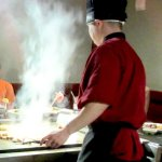 The  chef at the Hibachi