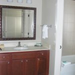 The second bathroom in the unit
