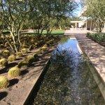 Garden fountain view