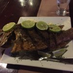 Catch of the day - whole red snapper