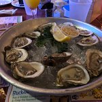 Oysters on a half shell are absolutely the best!