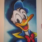 Artwork in the hotel... dedicated to Donald Duck??