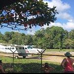 Our plane leaving Drake Bay