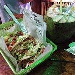 Mahi Mahi Taco and Coco Loco