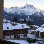 Facing the Alp mountains